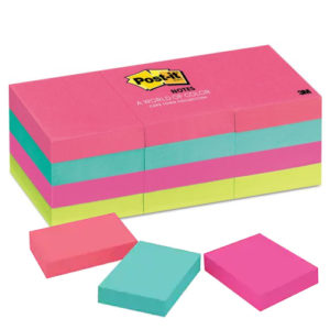 Post-it Notes 1. 3/8 x 1. 7/8 - 3M (#653AN) - Color Neo