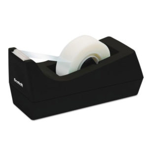 Dispensador de cinta 3/4 para escritorio - Scotch (C-38), Negro