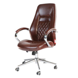 Sillón Ejecutivo en Leather, Marrón – RT-380